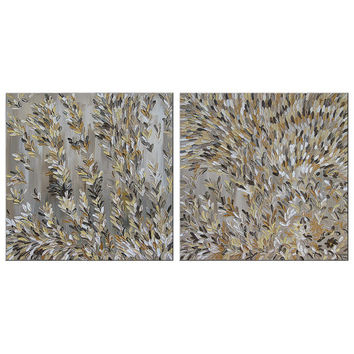 """Free Shipping! Abstract Texture Palette Knife Acrylic Painting """"VANILLA SPIKELETS""""  Original Modern Contemporary Wall Art Paintings for sale"""