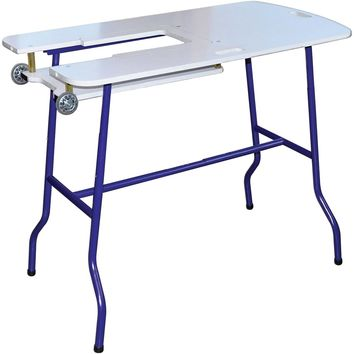 Sullivan's Sew & Go Adjustable Height Foldable Sewing Table-White FOB: MI