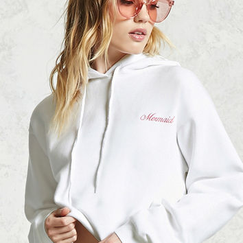 Mermaid Graphic Fleece Hoodie