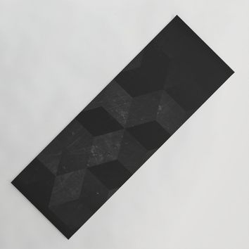 Fade to Black Yoga Mat by duckyb