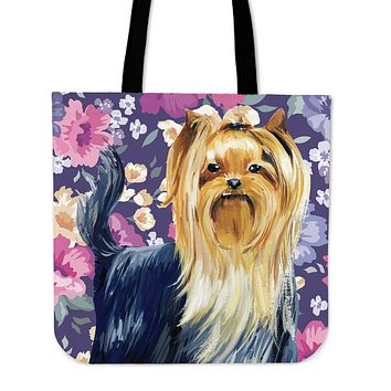 Yorkshire Terrier Sweetheart Linen Tote Bag - Promo