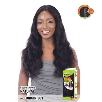 "100% BRAZILIAN HUMAN HAIR LACE FRONT WIG - 5"" PART - ORIGIN 301"