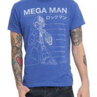 Mega Man Blueprint T-Shirt