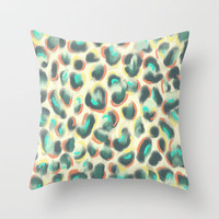 Leopard Throw Pillow by Jacqueline Maldonado | Society6