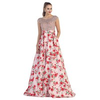 CUTE FLORAL PRINT EVENING DRESS - Walmart.com