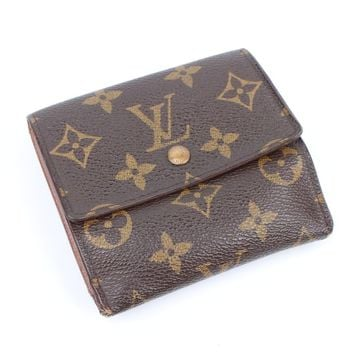 100% Auth Louis Vuitton Elise Monogram Tri-fold purse wallet TH1925 RARE