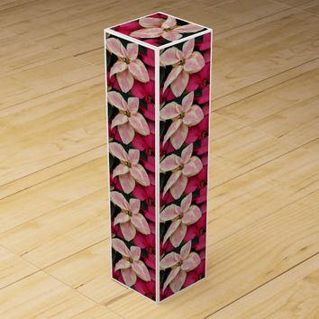 Marbled Poinsettia Holiday Wine Gift Box