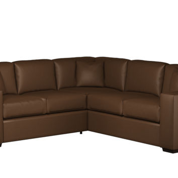 Sutton Place II Leather True Sectional with Twin Sleeper Sofa