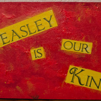 "Harry Potter quote painting 12"" x 7"" - Weasley is our King"