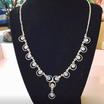 Opalite sterling silver necklace