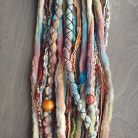 10pc Cloudy Days Custom Order Tie-Dye Beaded Wool Dreads Bohemian Hippie Dreadlocks Tribal Synthetic Boho Extensions