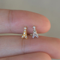 earring,Eiffel Tower tragus earring,cartilage earrings,cute helix earrings