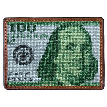 Benjamin Needlepoint Credit Card Wallet by Smathers & Branson
