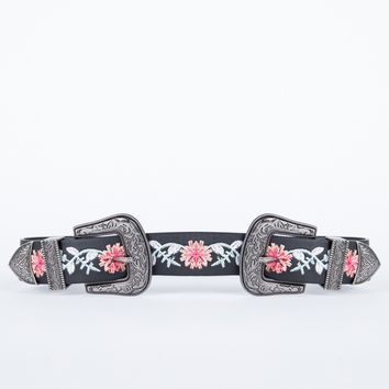 Perfectly Stitched Floral Belt