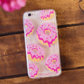 Pink Donuts Clear IPhone Case