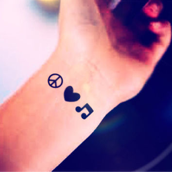 Tiny Peace Love Music Sign