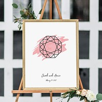 Gemstone Wedding Sign