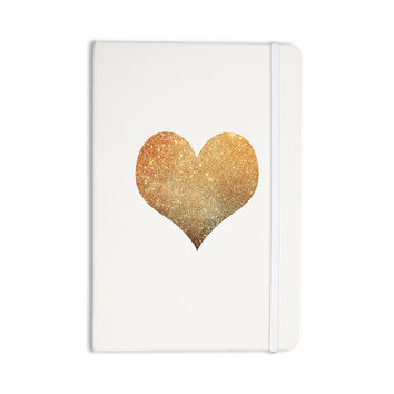 "Suzanne Carter ""Gold Heart"" Glam Everything Notebook"