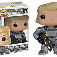 Funko Pop Games: Fallout 4 - Female Power Armor Unmasked Exclusive Vinyl Figure
