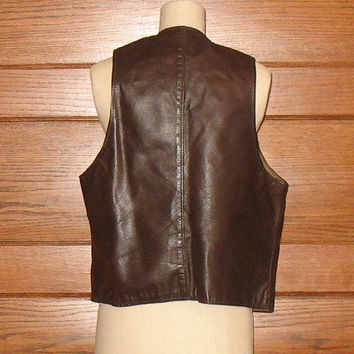 Vintage Berman and Buckskin Leather Vest