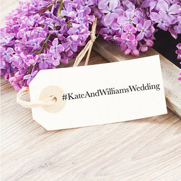 Wedding Hashtag Stamp - Personalized Instagram Stamp - Custom Hashtag Wedding Stamp - Rubber Stamp for Social Media - Great Engagement Gift