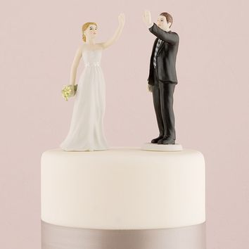 High Five - Bride and Groom Figurines - Weddingstar
