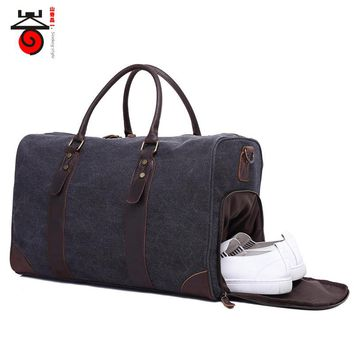 2017 Fashion Canvas Men's Travel Bag Carry on Luggage Bags Vintage Handbag Crossbody Men Duffel Bags Travel Tote Shoulder Bags
