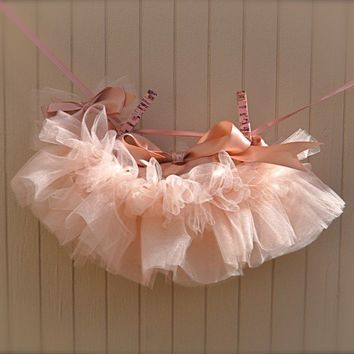 Baby Ballerina Antique Pink Newborn Tutu Teeny tiny by TutusChic