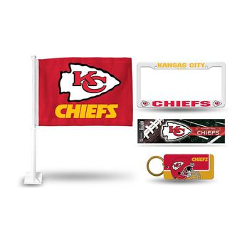 Kansas City Chiefs NFL 4 Piece Car Kit