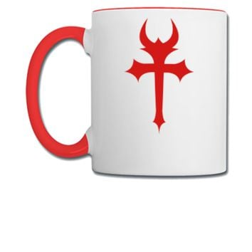 devil gothic cross - Coffee/Tea Mug