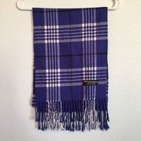 100% #cashmere scarf in a #Burberry style plaid. Colour is ...