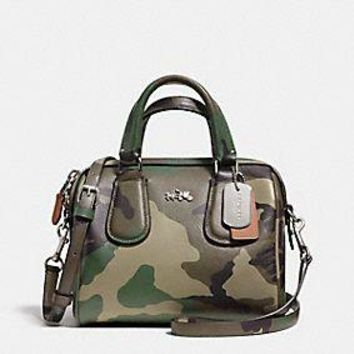 MINI SURREY SATCHEL IN CAMO PRINT CROSSGRAIN LEATHER