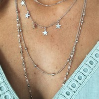 All The Stars Necklace: Silver
