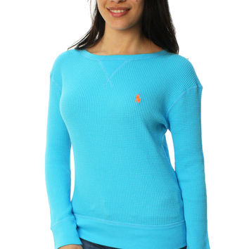 Polo Ralph Lauren Women's Long Sleeve Scoop Neck Thermal Shirt