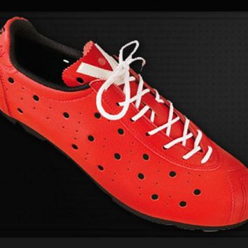 Vittoria 1976 BIANCO LINE Cycling Shoes - Red