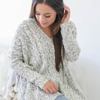 Draw You Near Sweater - Light Heather Grey