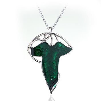Movie Lord Of The Ring The Elven Leaf Arwen Evenstar With Chains Fan Gift Movies Jewelry Pendant Necklace Drop Shipping