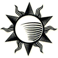 No. I Tribal Sun Glitter Temporary Tattoo 2x2