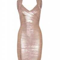 mytheresa.com - Hervé Léger - IMAN COATED BANDAGE DRESS - Luxury Fashion for Women / Designer clothing, shoes, bags