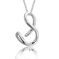 Bling Jewelry Cursive S Necklace