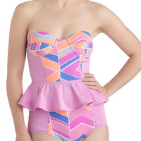 Get Your Flutter Kicks One Piece | Mod Retro Vintage Bathing Suits | ModCloth.com