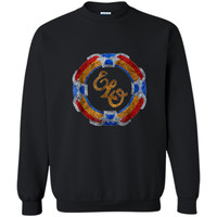 Funny flying disc vintage music rock band 70s  Printed Crewneck Pullover Sweatshirt