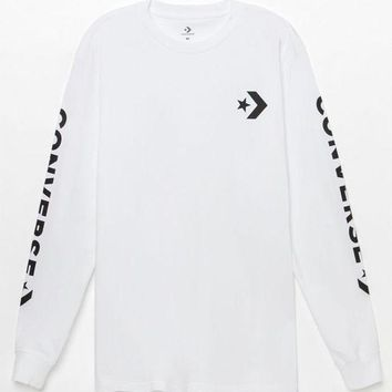 DCCKJH6 Converse Star Chevron Long Sleeve T-Shirt