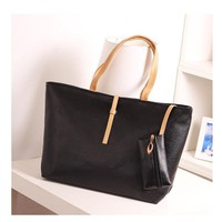 Women Bag 2017 New Candy Colors Ladies Shoulder Handbag High Quality PU Leather Large Capacity Handbag And Purse For Women
