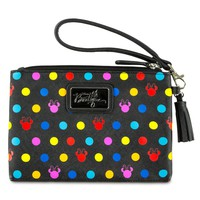 Disney Boutique Minnie Mouse Polka Dot Wristlet New with Tags
