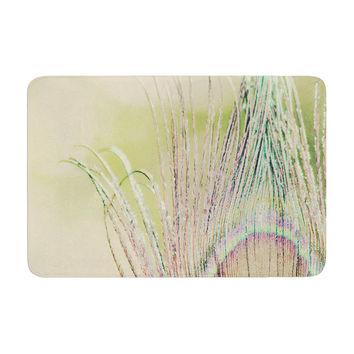 "Beth Engel ""Sun Kissed"" Peacock Feather Memory Foam Bath Mat"