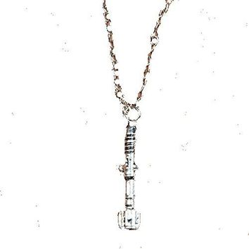 "Basket Hill Watches, Silver Tone Dr Who ""Sonic Screwdriver"" Men or Womens Necklace"