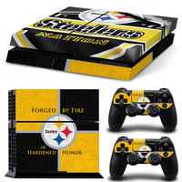 Pittsburgh Steelers PS4 Skin For Console + 2 Controllers