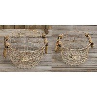 Rope-handled Wire Baskets (set of 2)