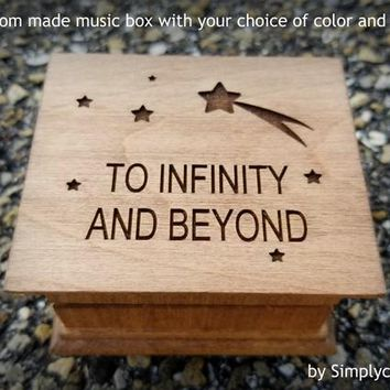 to infinity and beyond, I love you, music box, You've got a friend in me, Toy Story, gift for little boys, Christmas gift idea, cool gifts